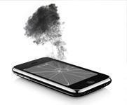 törött iphone kijelző